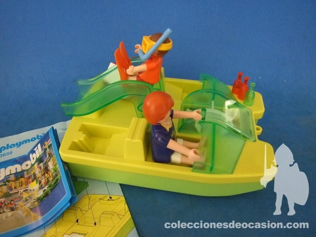 Colecciones de ocasi n playmobil pat n con tobog n ref 3656 for Playmobil piscina con tobogan