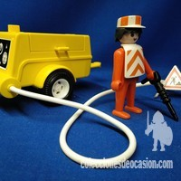 Playmobil Operario con compresor y martillo percutor