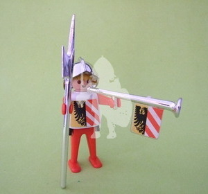 Playmobil Guardia real medieval, trompetero, click